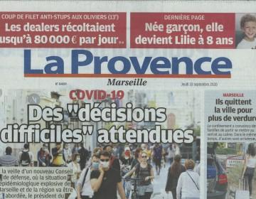 La Provence - 10 Septembre 2020