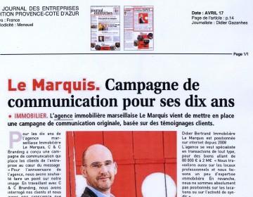 Le journal des entreprises - édition Provence Côte d'Azur - Avril 2017